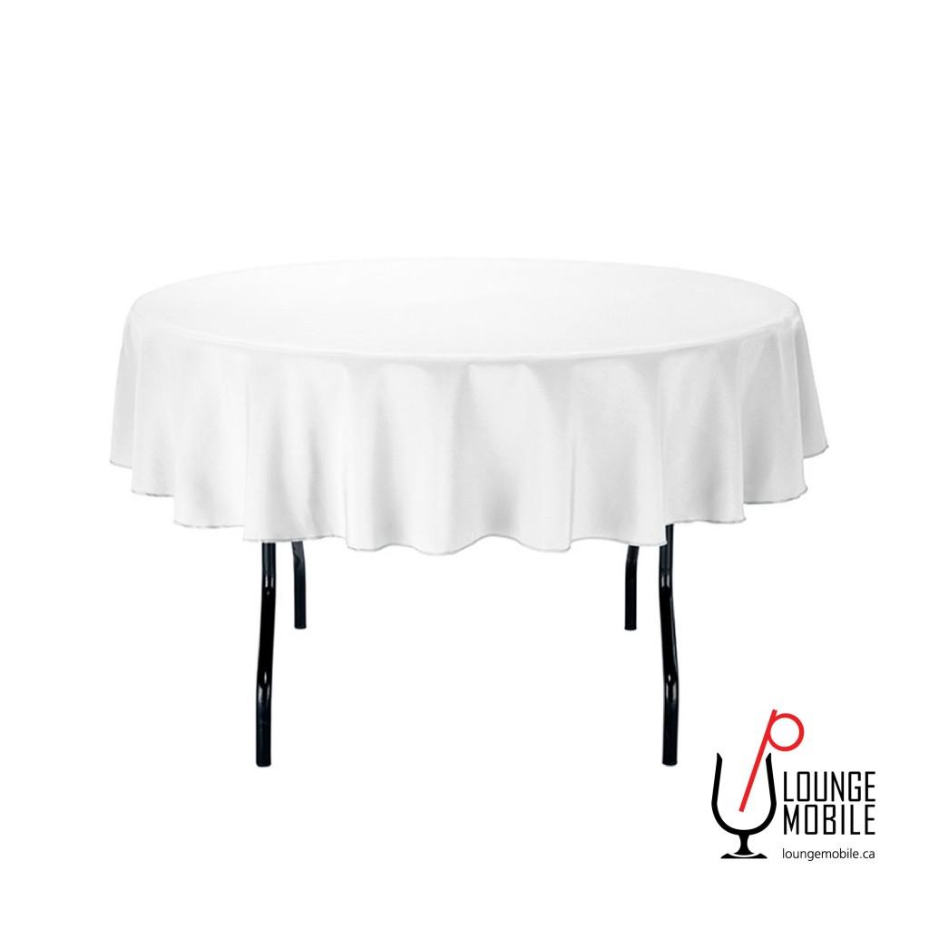 nappe ronde polyester 70 39 39 blanche nappes rondes les. Black Bedroom Furniture Sets. Home Design Ideas
