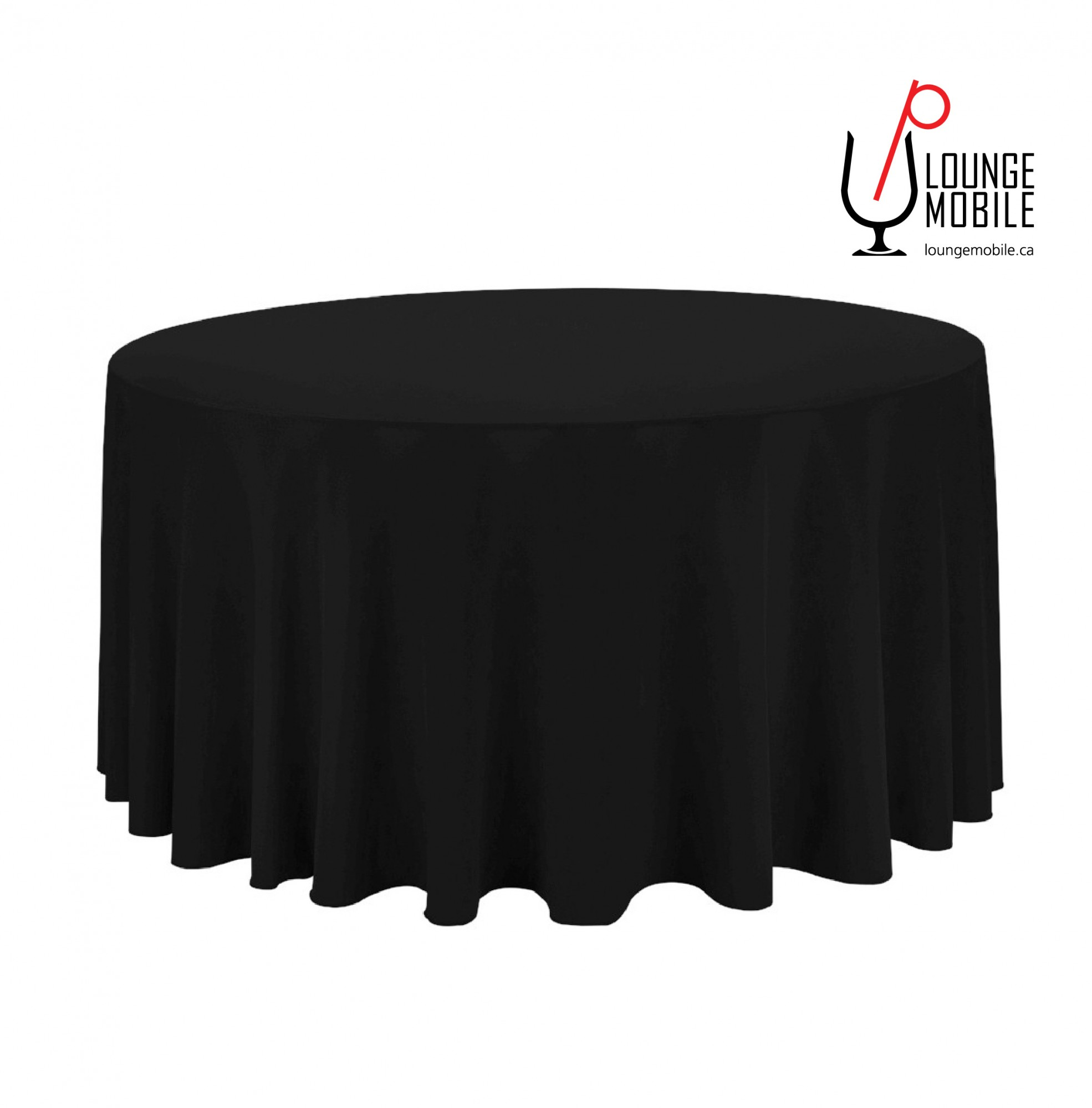 Nappe ronde polyester 120 39 39 noir nappes les - Nappe table ronde 120 ...