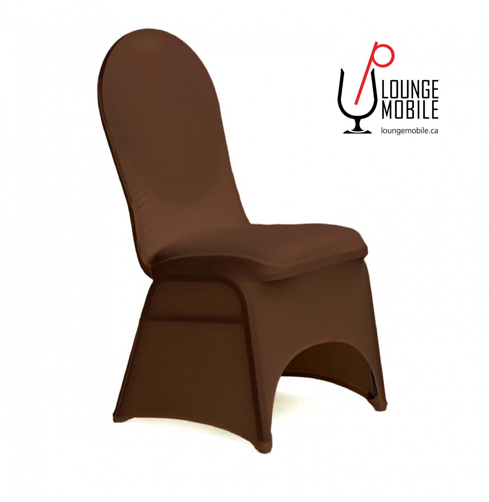 Housse de chaise lycra chocolat housses de chaises les for Housse chaise lycra