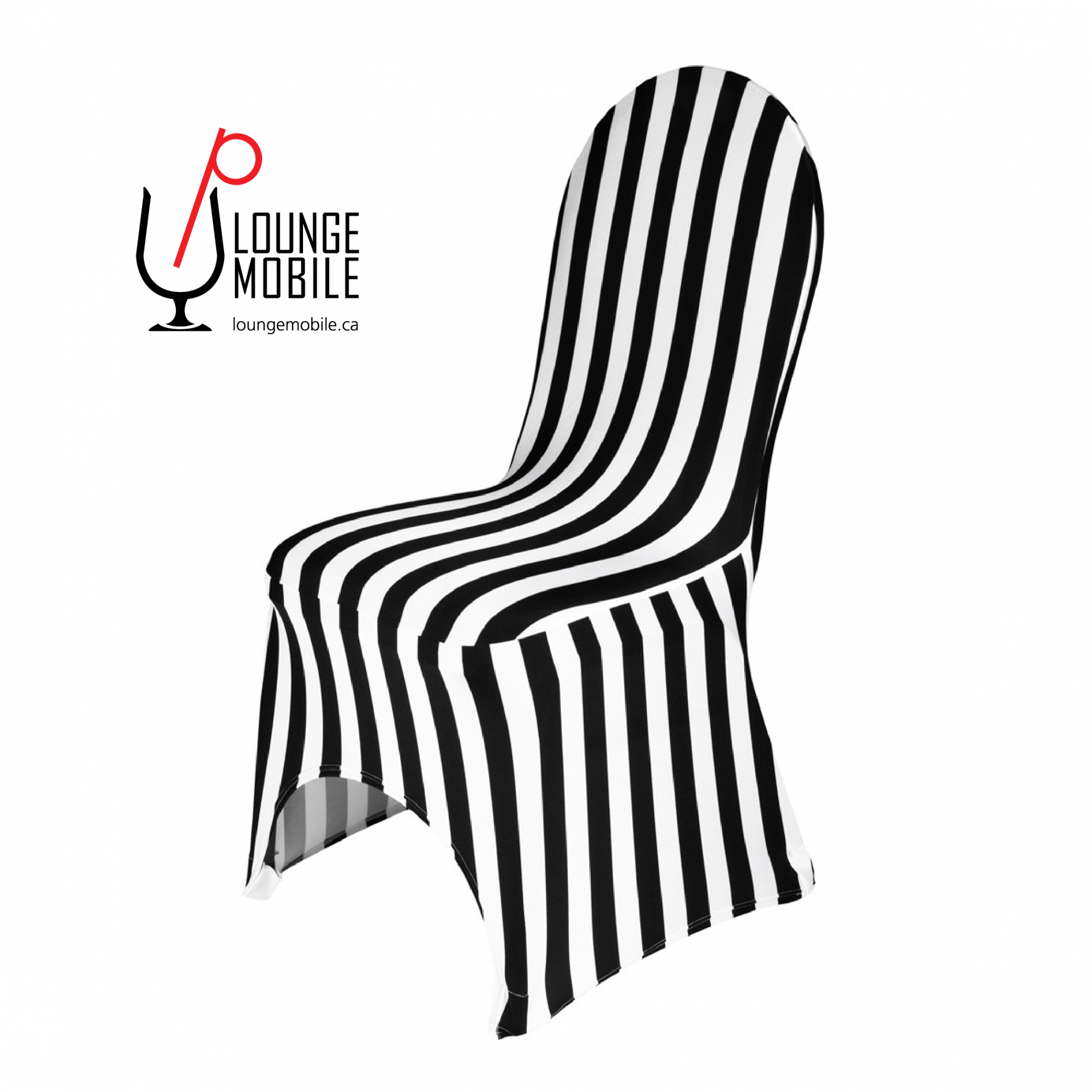 housse de chaise lycra ray e noir et blanc housses de chaises les productions c l brason. Black Bedroom Furniture Sets. Home Design Ideas