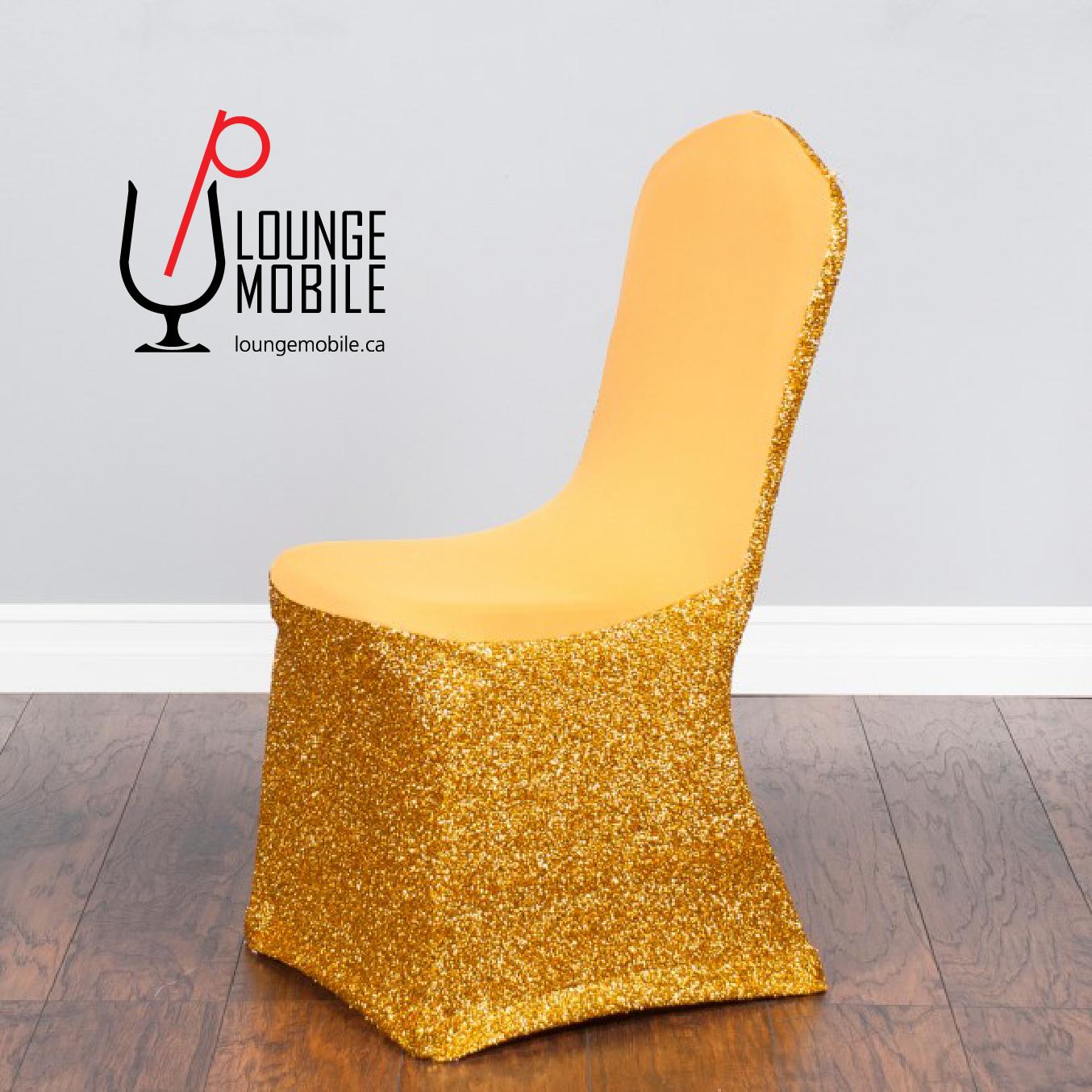 Housse de chaise lycra avec brillants or d coration les productions c l brason site officiel - Housse de chaise dossier rond ...