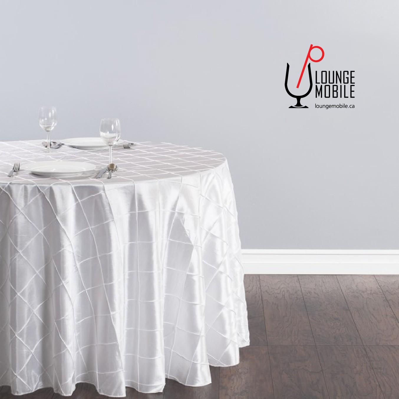nappe ronde 108 39 39 taffeta carrel blanche nappes rondes. Black Bedroom Furniture Sets. Home Design Ideas