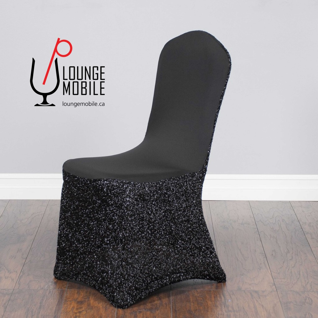 housse de chaise lycra avec brillants noir d coration les productions c l brason site officiel. Black Bedroom Furniture Sets. Home Design Ideas