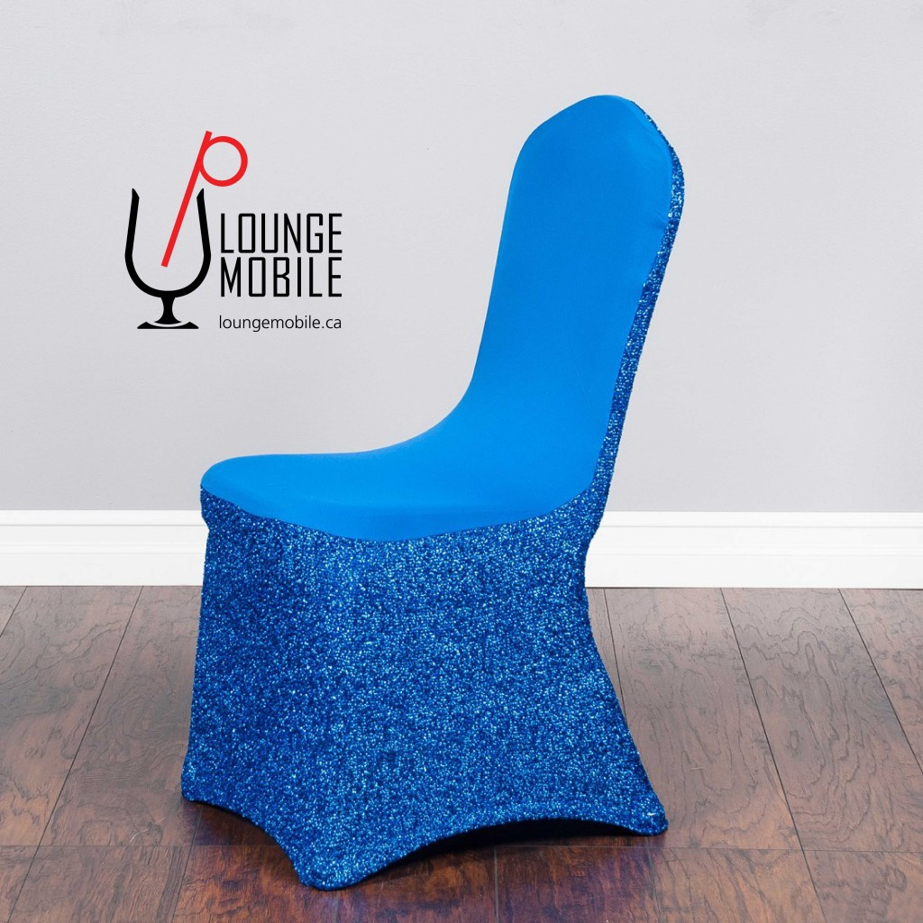 housse de chaise lycra avec brillants bleu royal housses de chaises les productions. Black Bedroom Furniture Sets. Home Design Ideas