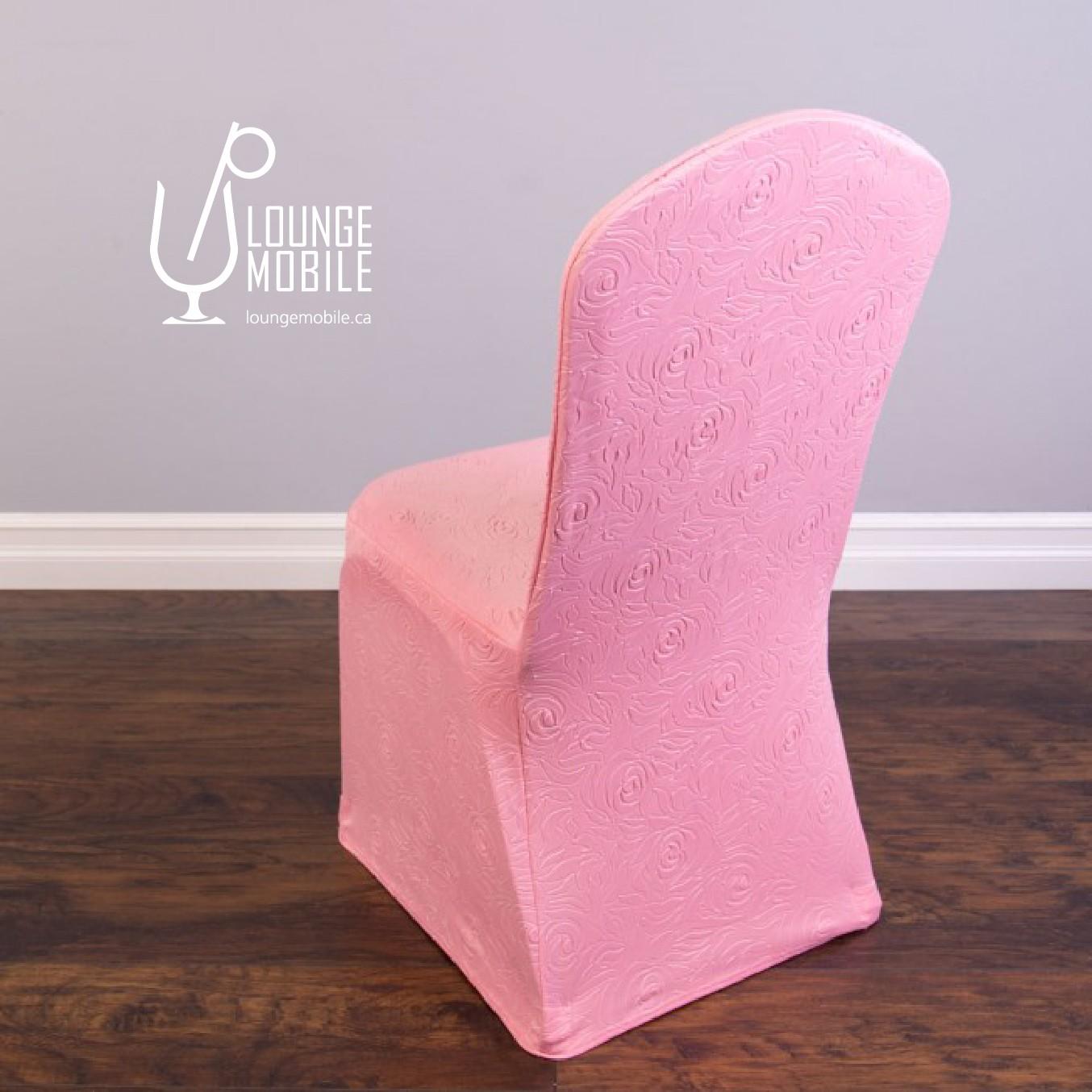housse de chaise lycra rosettes rose housses de chaises les productions c l brason site. Black Bedroom Furniture Sets. Home Design Ideas