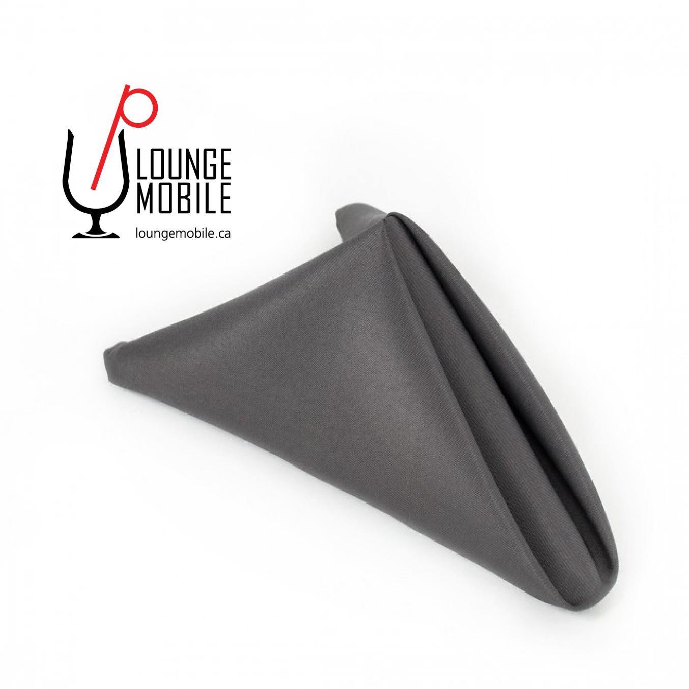 Napkins gris charcoal 20 39 39 polyester serviettes de table - Couleur gris charcoal ...