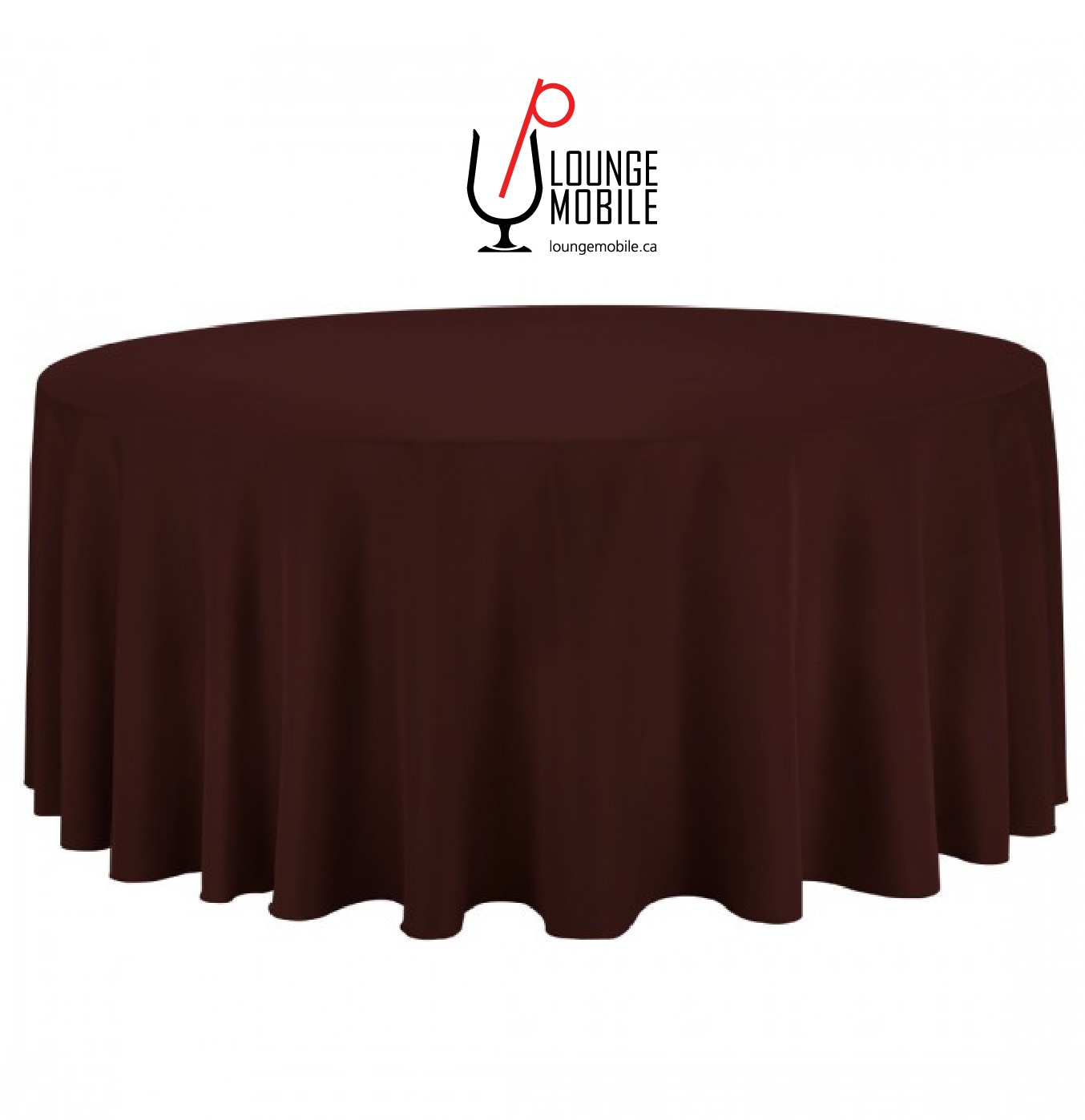 nappe ronde polyester 132 39 39 chocolat nappes les productions c l brason site officiel. Black Bedroom Furniture Sets. Home Design Ideas