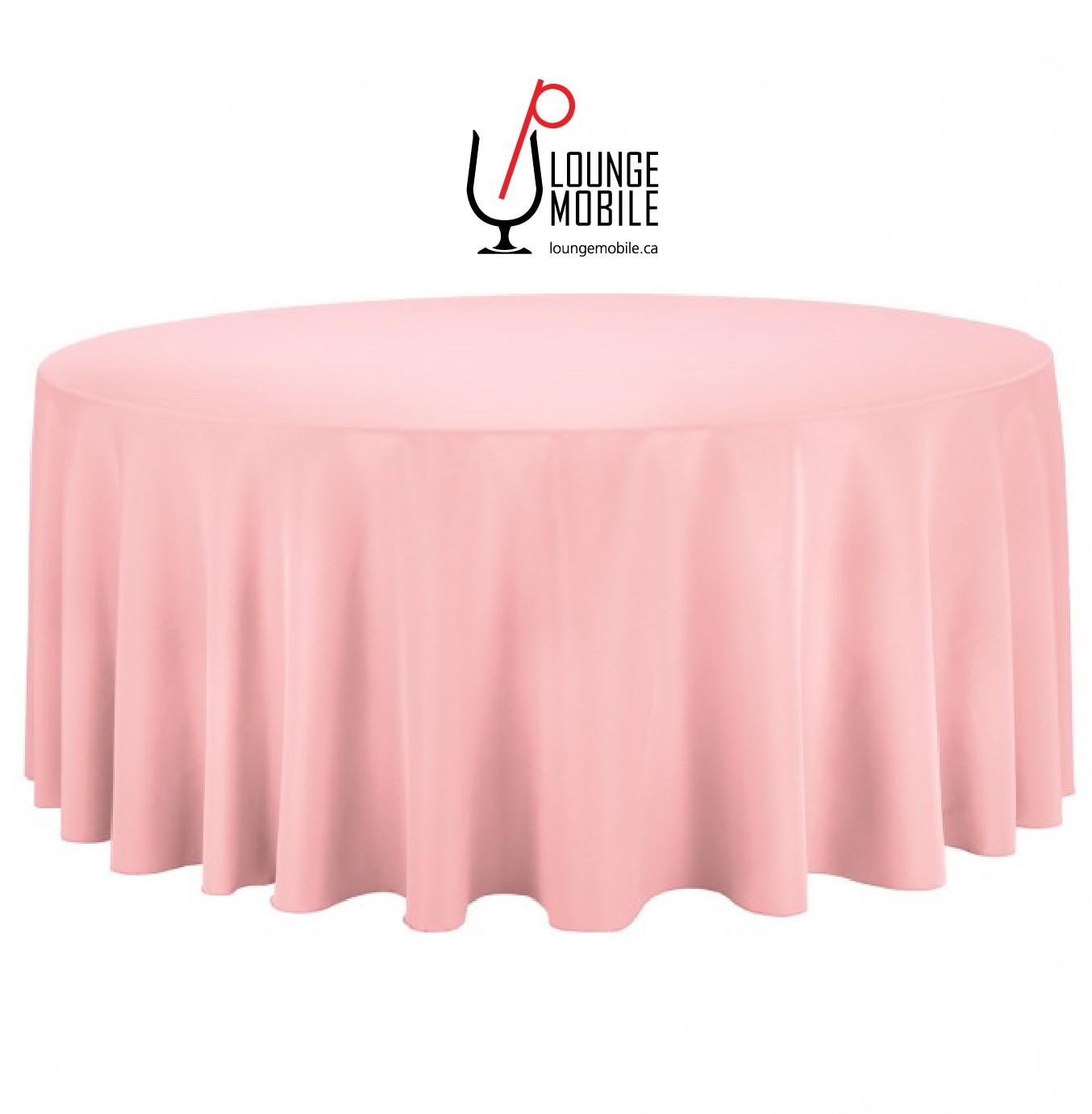 nappe ronde polyester 132 39 39 rose d coration les productions c l brason site officiel. Black Bedroom Furniture Sets. Home Design Ideas