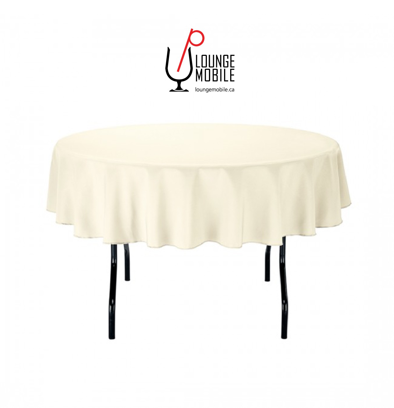 nappe ronde polyester 70 39 39 ivoire nappes les productions c l brason site officiel. Black Bedroom Furniture Sets. Home Design Ideas