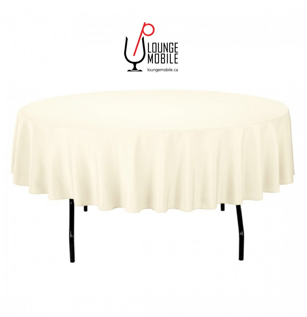 nappe ronde polyester 90 39 39 ivoire nappes les productions c l brason site officiel. Black Bedroom Furniture Sets. Home Design Ideas