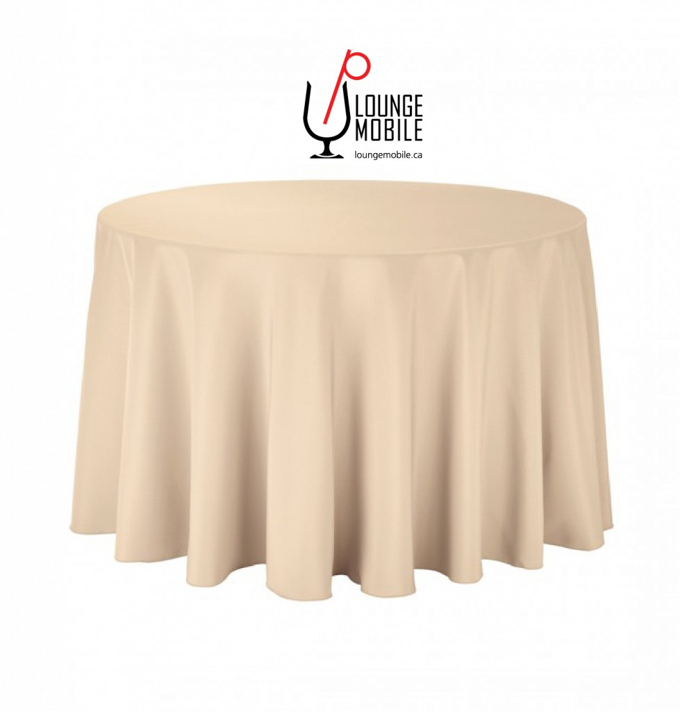 nappe ronde polyester 108 39 39 beige nappes les productions c l brason site officiel. Black Bedroom Furniture Sets. Home Design Ideas