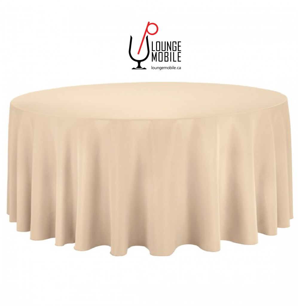 nappe ronde polyester 132 39 39 beige nappes les productions c l brason site officiel. Black Bedroom Furniture Sets. Home Design Ideas