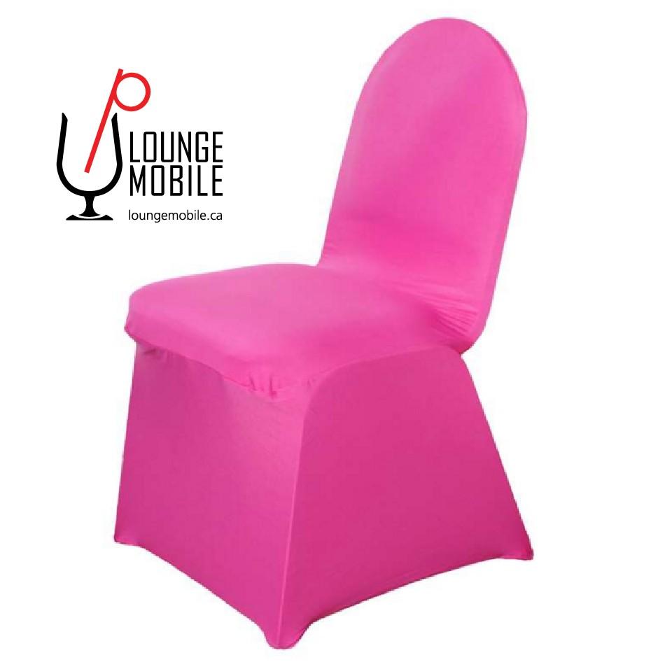 Housse de chaise lycra fuchsia housses de chaises les for Housse chaise lycra