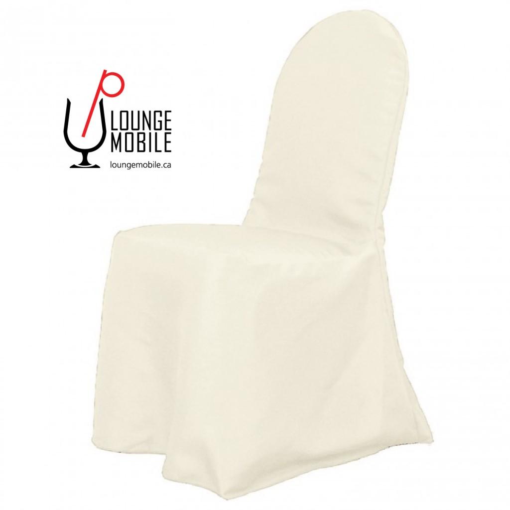 housse de chaise polyester ivoire rond d coration les productions c l brason site officiel. Black Bedroom Furniture Sets. Home Design Ideas