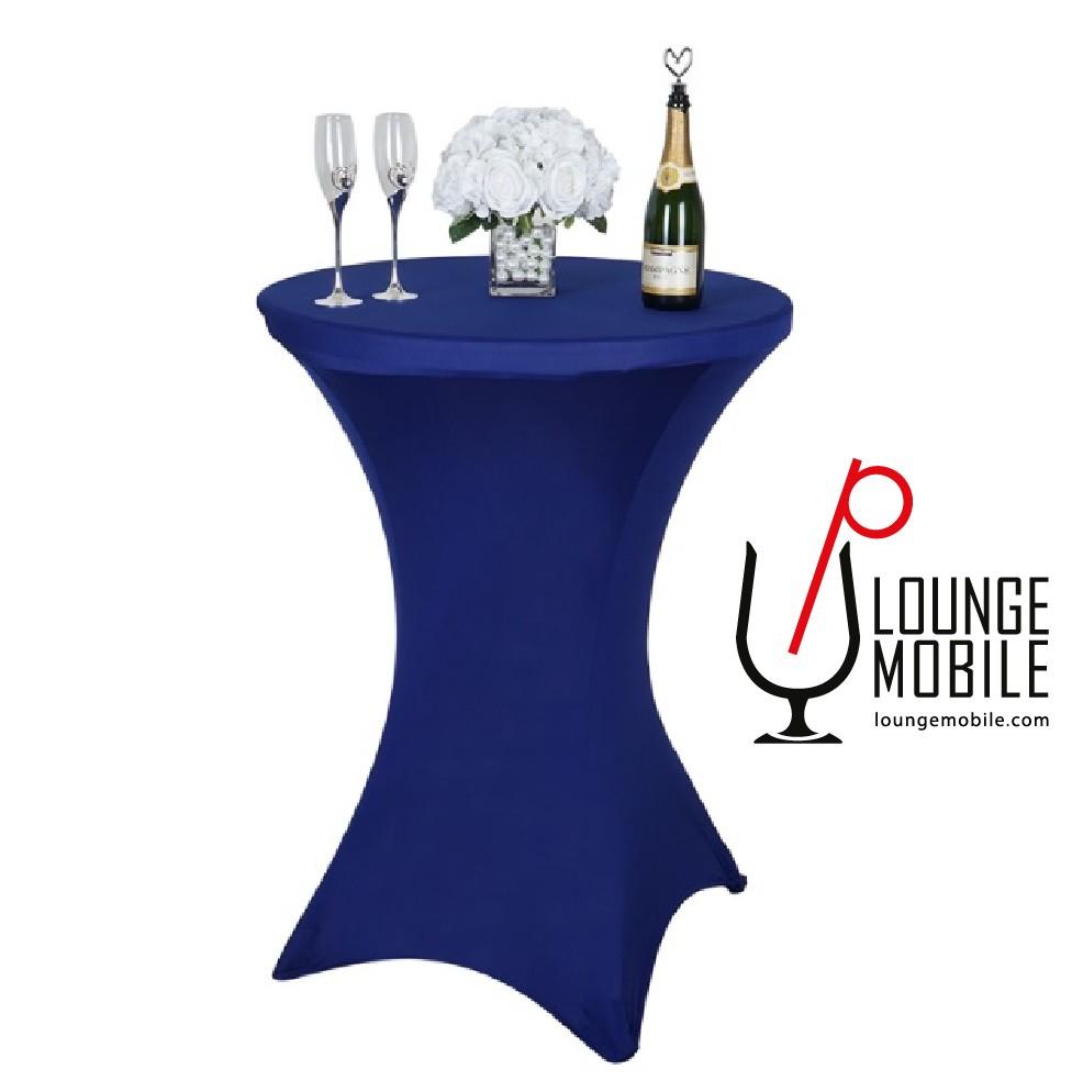 Nappe de lycra pour table cocktail large bleu royal - Nappe bleu fonce ...